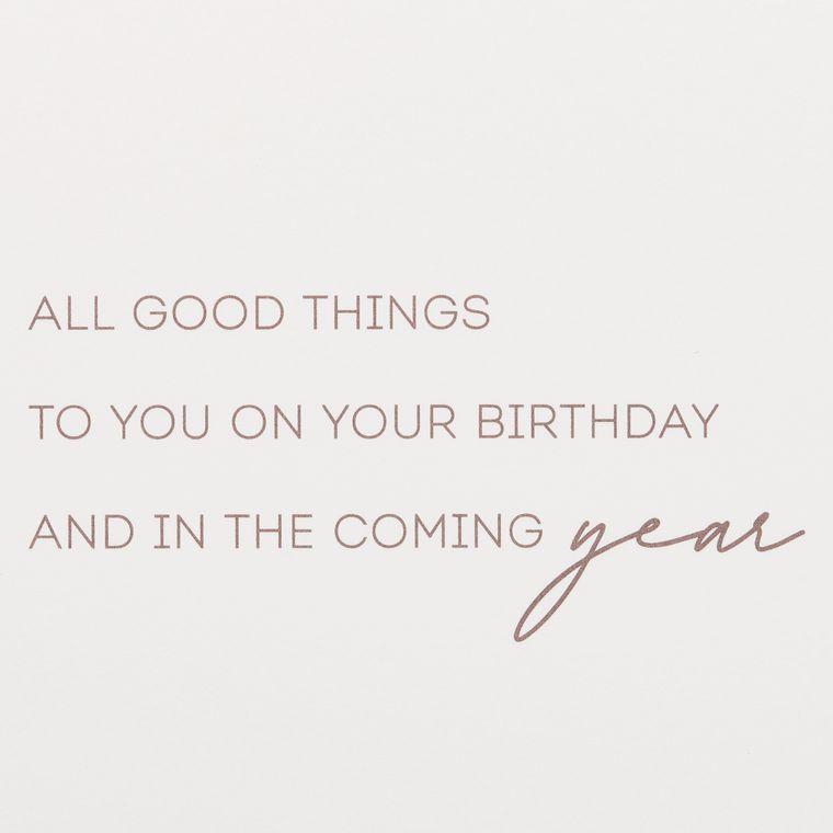 Good Things Birthday Greeting Card