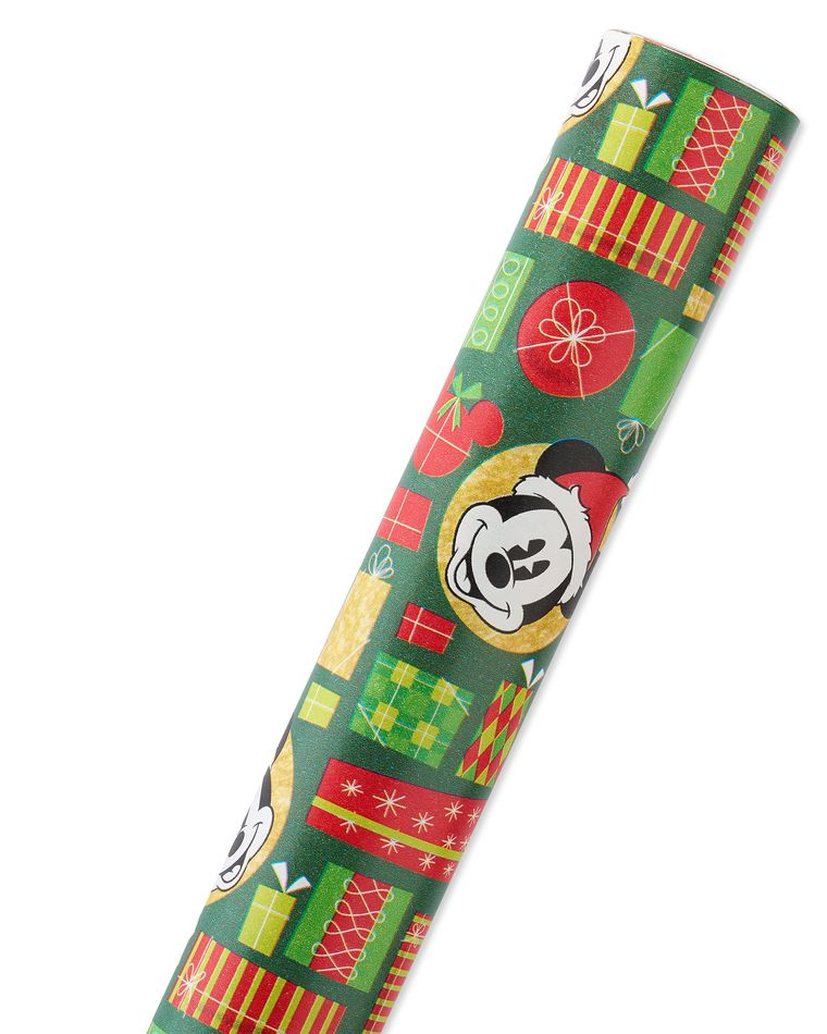 Mickey Mouse Christmas Wrapping Paper, 40 Total Sq. Ft.