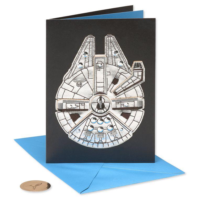 Star Wars™ Millennium Falcon™ Birthday Greeting Card