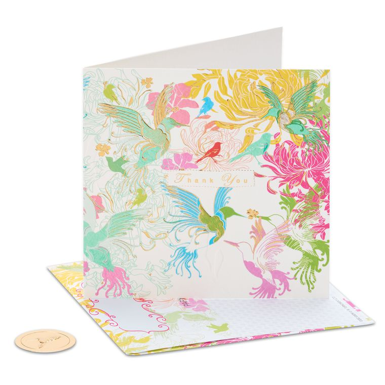 Hummingbirds Blank Greeting Card