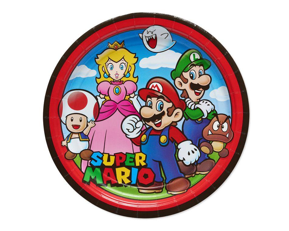 Super Mario 8-Count Dinner Square Plate