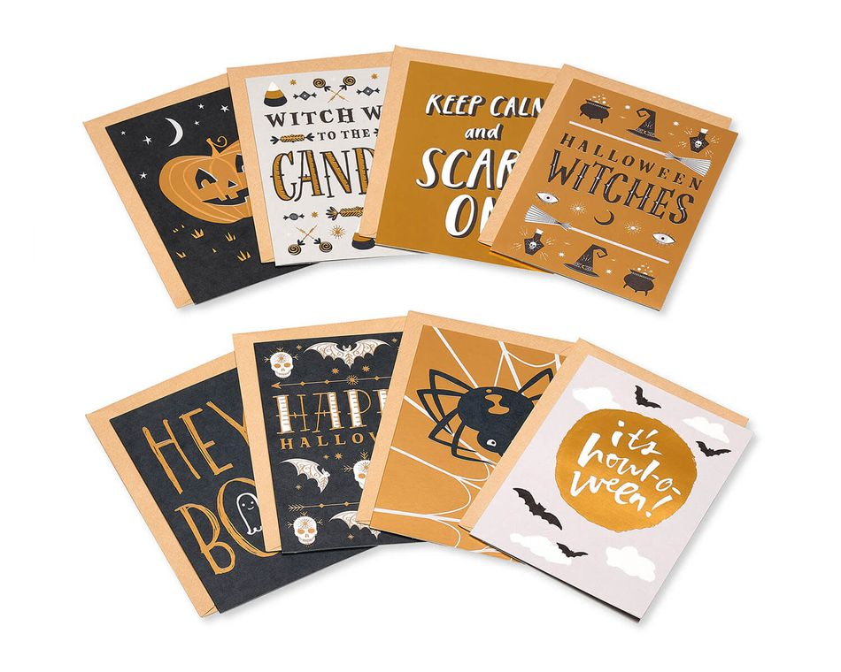 Mini Halloween Card Bundle, 8-Pack