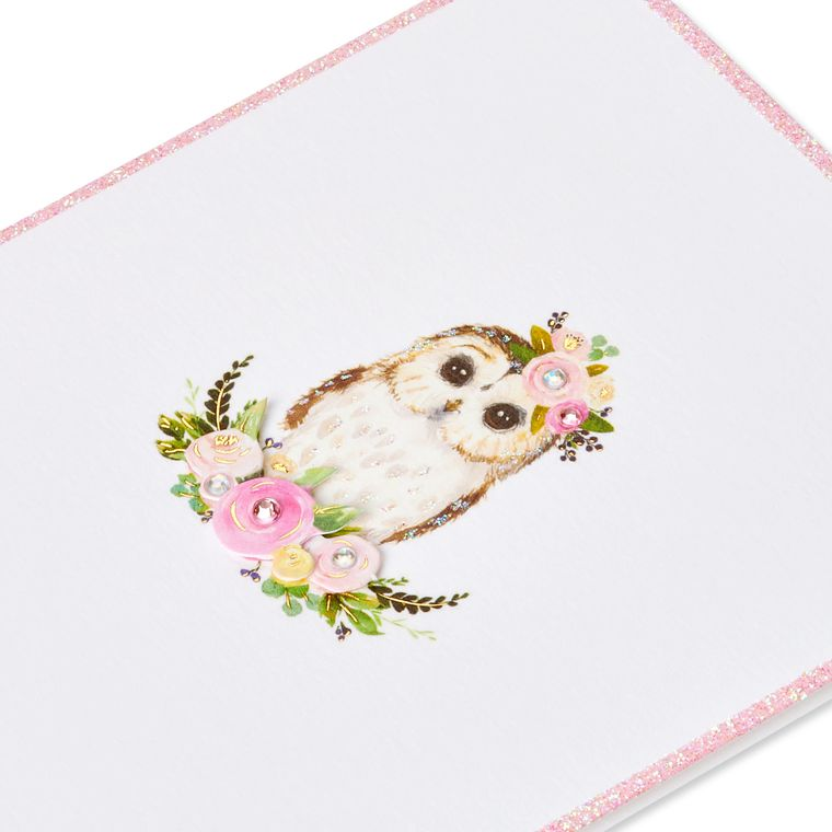 Owl Blank Greeting Card