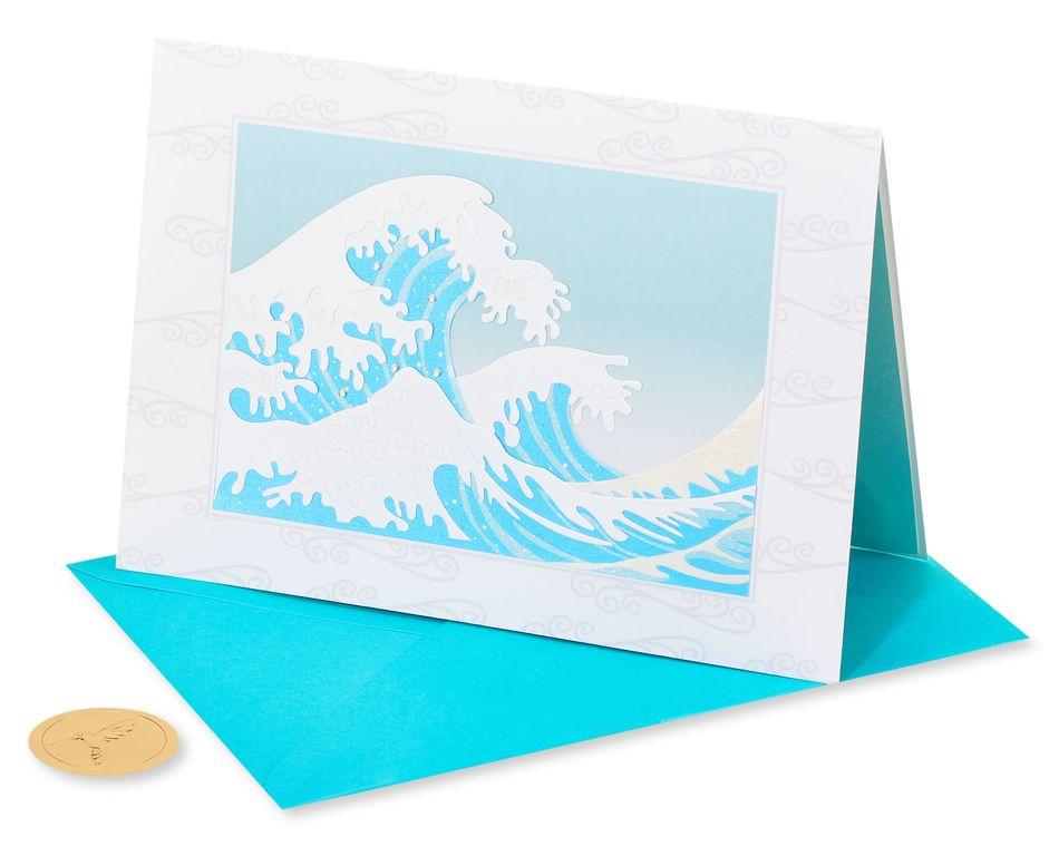 Hokusai Wave Blank Greeting Card