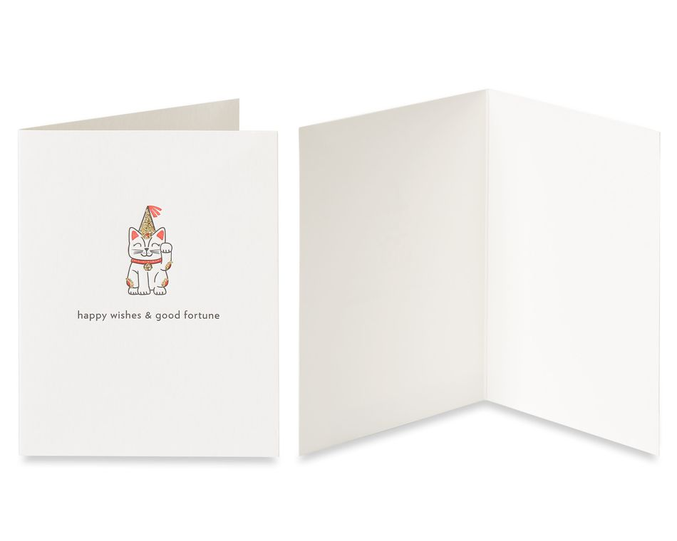 Cat and Cake Birthday Greeting Card Bundle, 2-Count