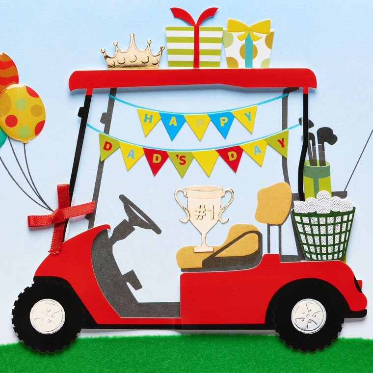 Golf Cart Father's Day Greeting Card