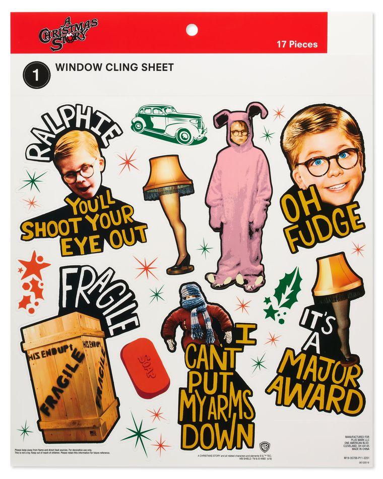 A Christmas Story Window Decorations, 17-Count