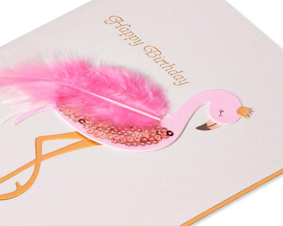 Flamingo Birthday Greeting Card