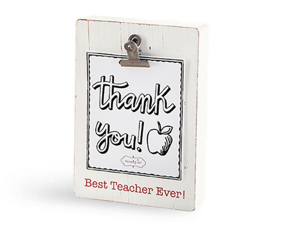 Mud Pie Best Teacher Clip Block Frame