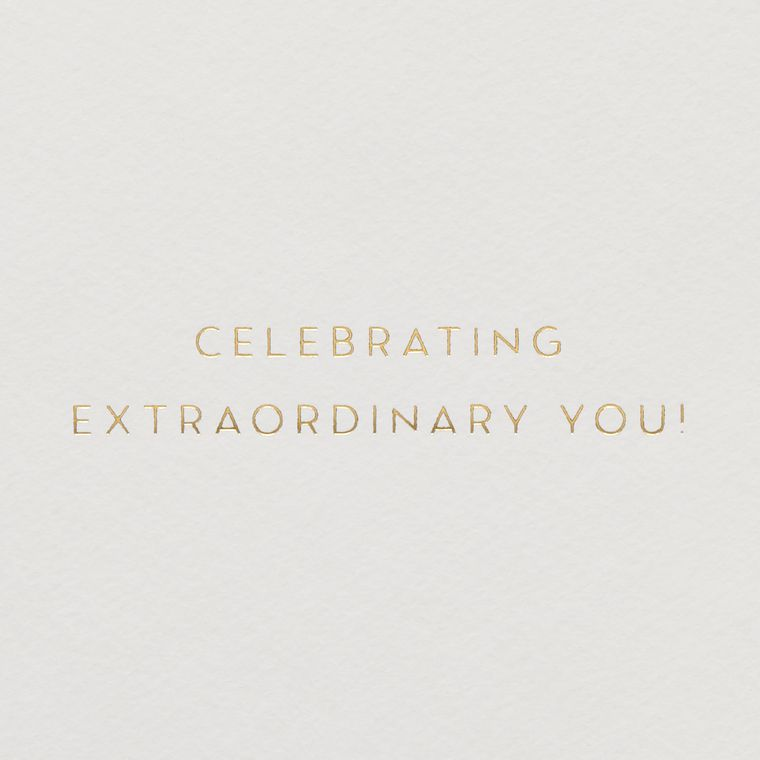 Celebrating You Birthday Greeting Card