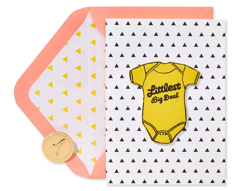 Littlest Big Deal New Baby Greeting Card