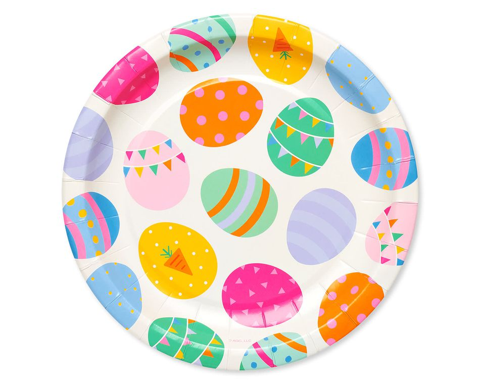 Easter Eggs Paper Dessert Plates, 8-Count