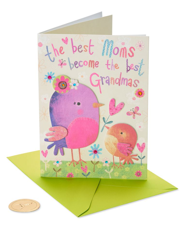 Colorful Birds Mother's Day Card for Grandma