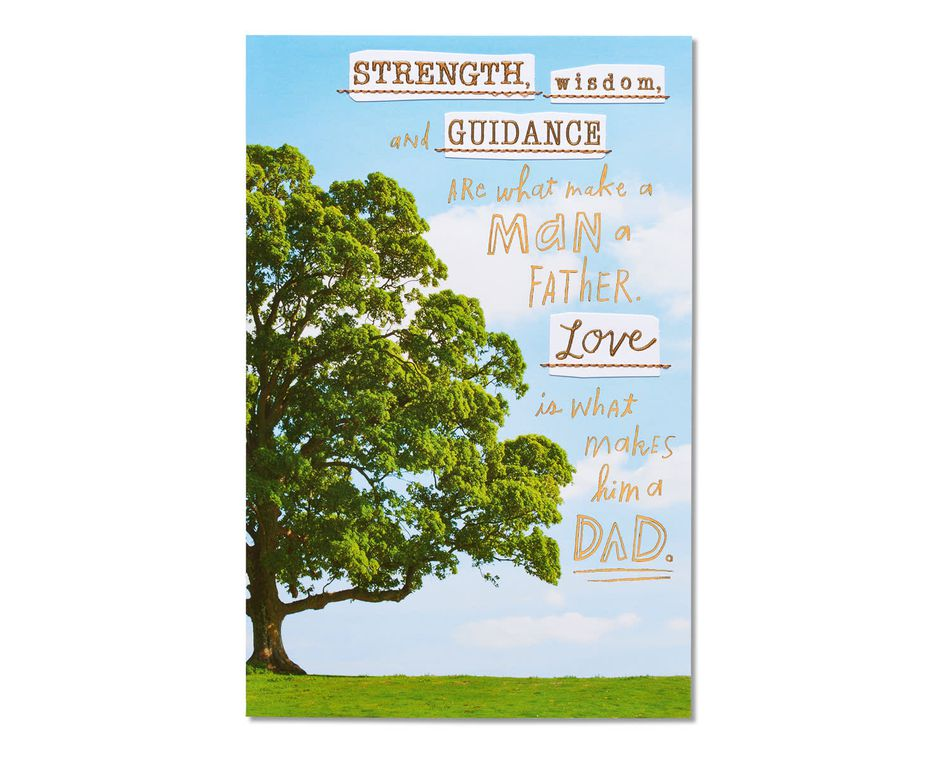 strength wisdom guidance father's day card