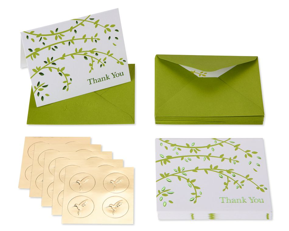 Branches Boxed Blank Note Cards, 20-Count