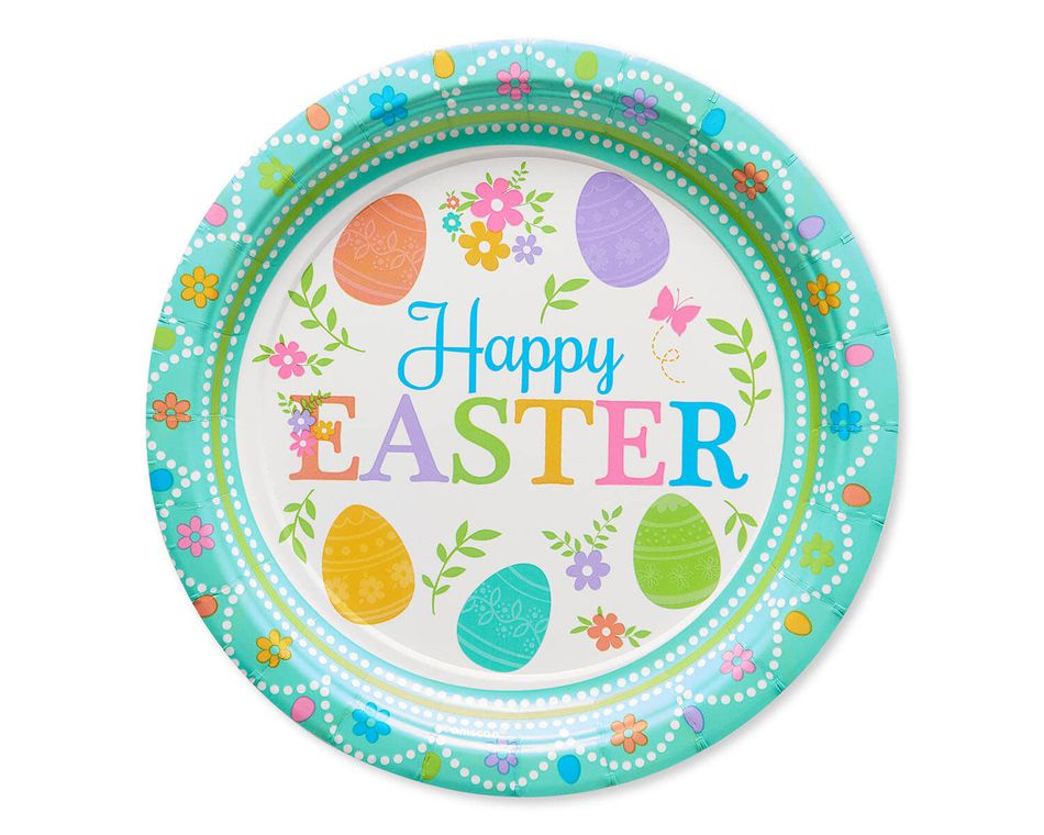 Lovely Easter Paper Dessert Plates, 8-Count