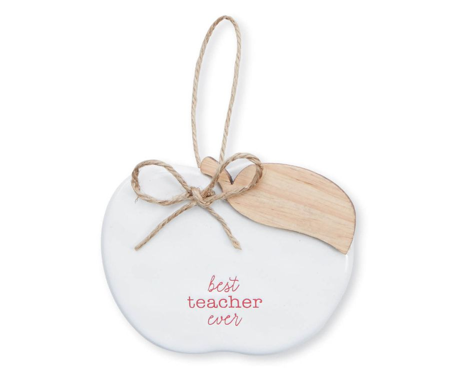 Mud Pie Best Teacher Ornament