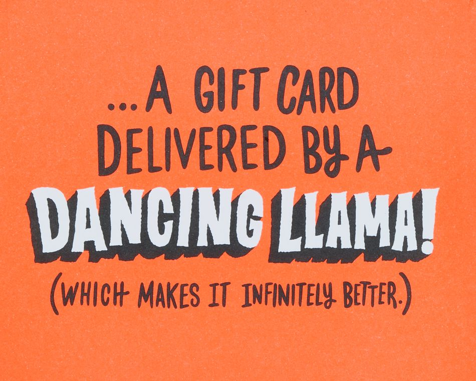 Funny Llama Gift Card Holder Birthday Card