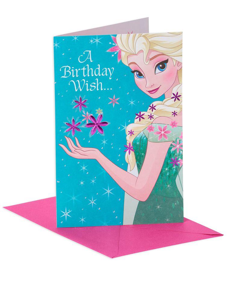 Frozen Birthday Card