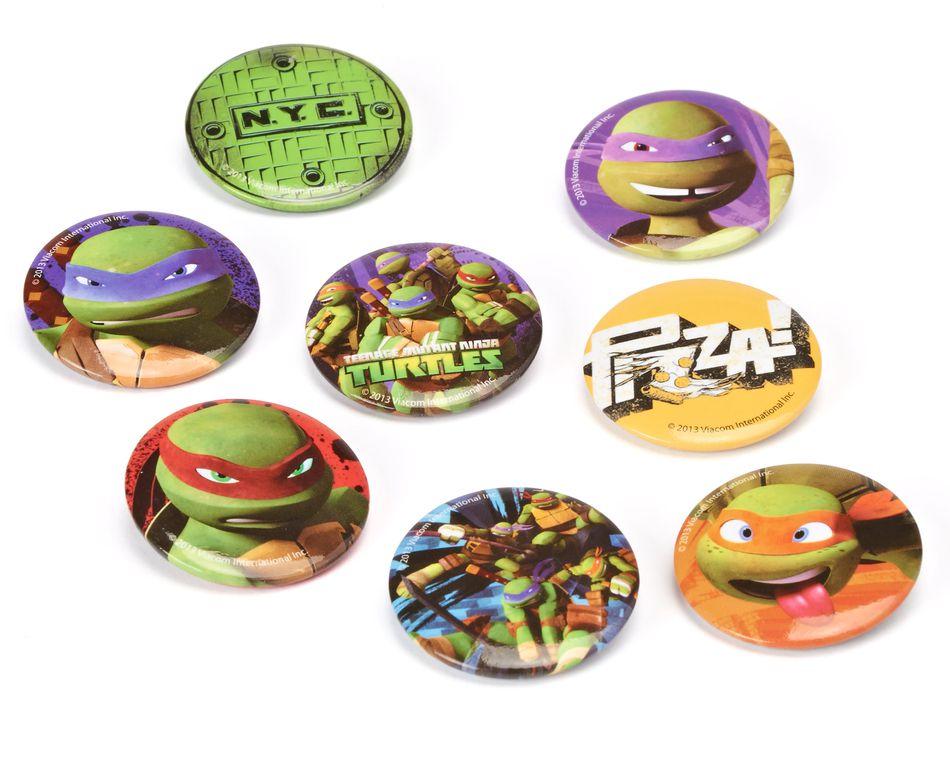 teenage mutant ninja turtles buttons 8 ct