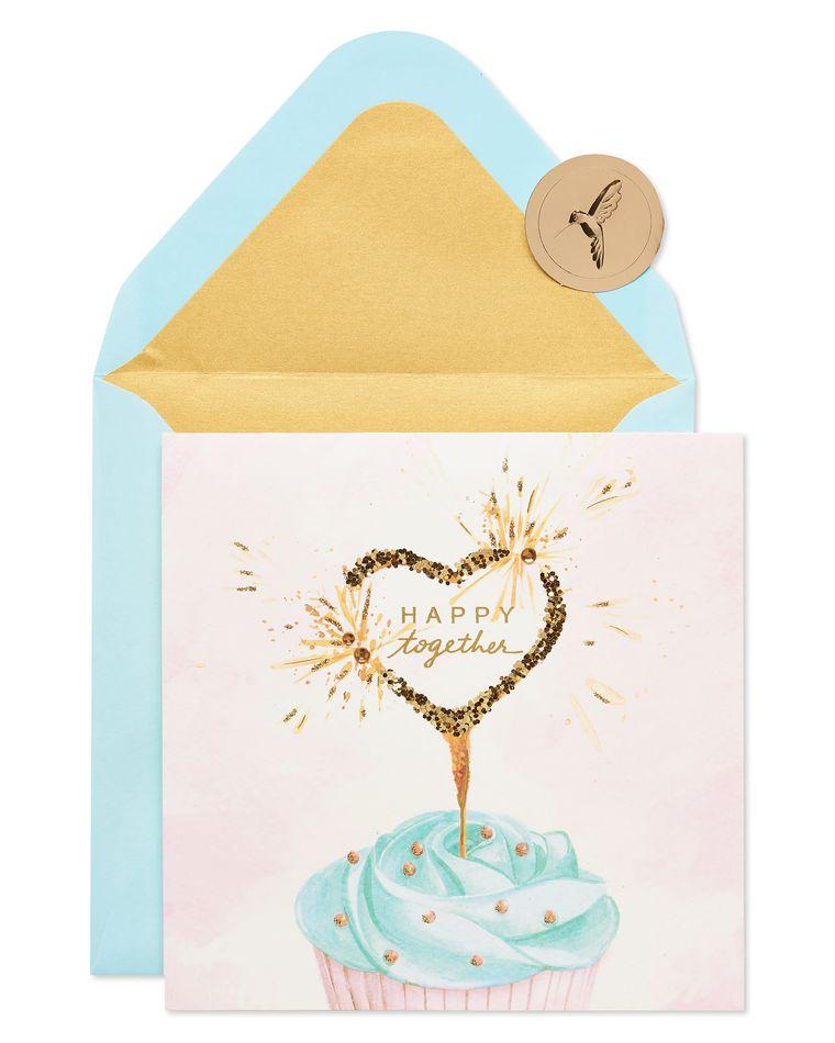 Heart Cupcake Bridal Shower Greeting Card