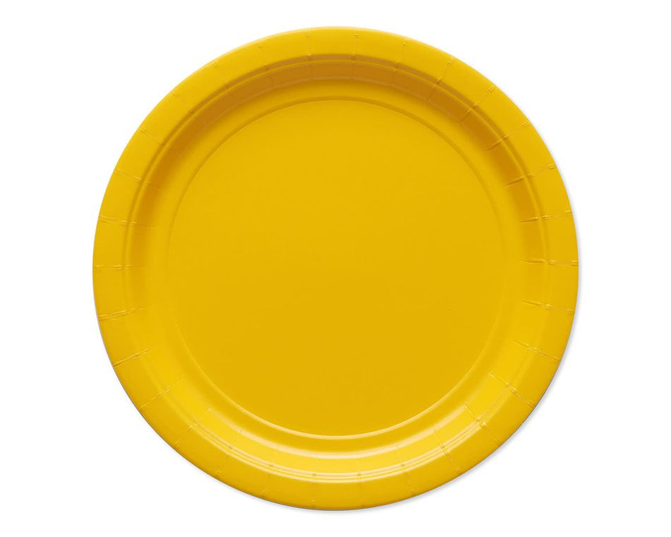 yellow paper dinner plates 20 ct