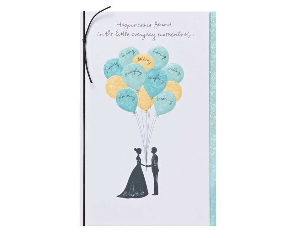 everyday moments wedding card with foil