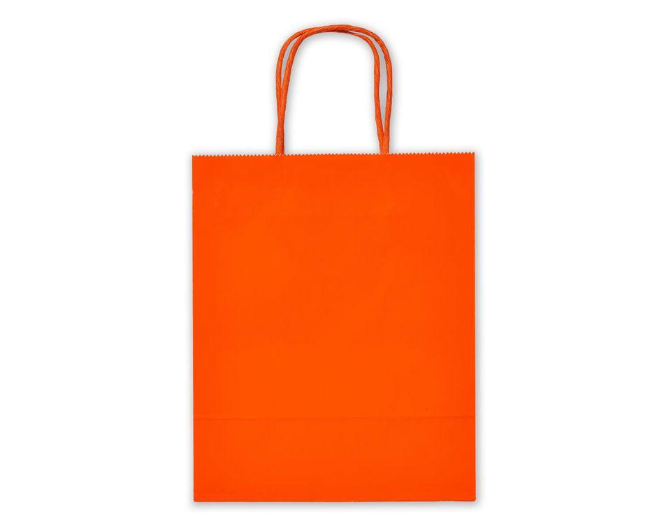 Small Orange Gift Bag