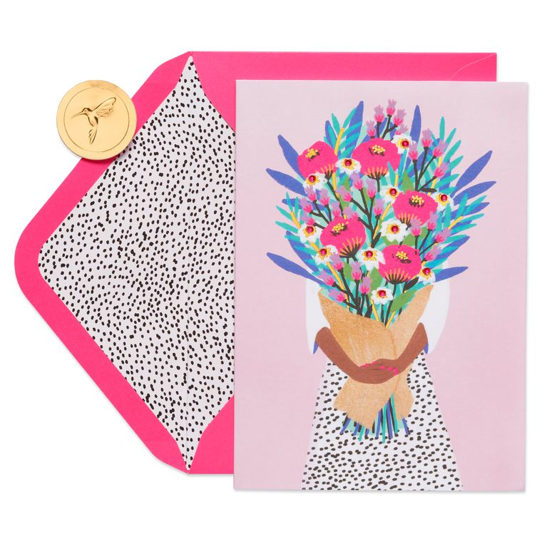 Floral Bouquet Birthday Greeting Card