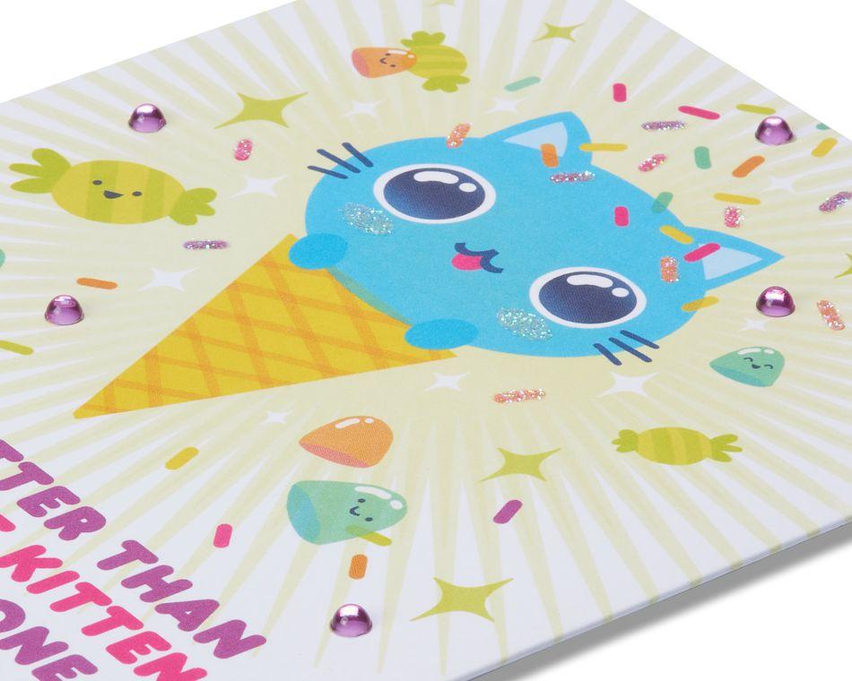 Adorable Kitten Birthday Card
