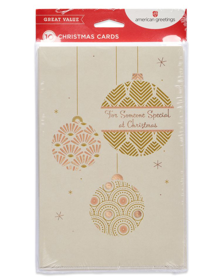 Ornaments Christmas Card, 10-Count