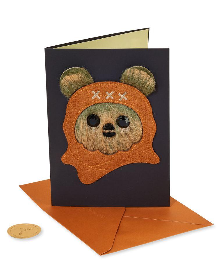 Star Wars Leather Ewok Birthday Greeting Card