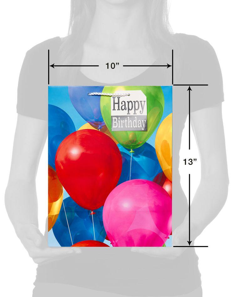 Colorful Balloons Medium Birthday Gift Bag