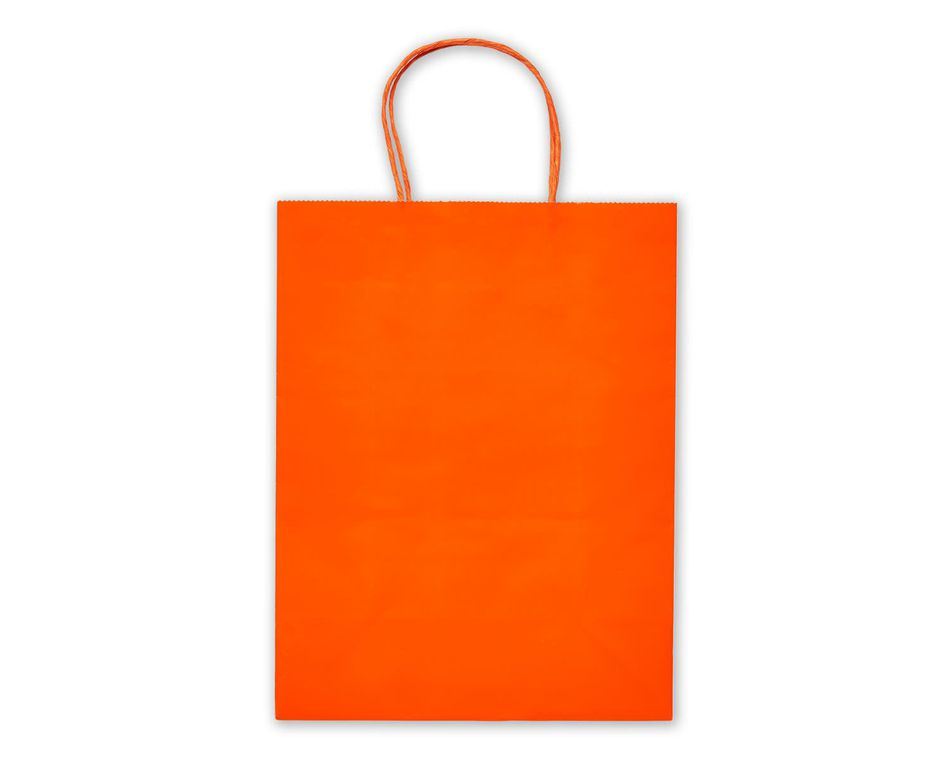 Medium Orange Gift Bag