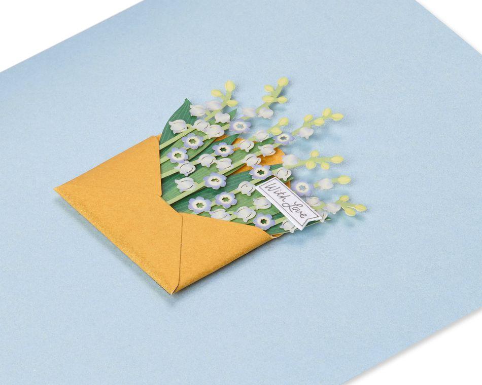 Flowers Friendship Blank Greeting Card