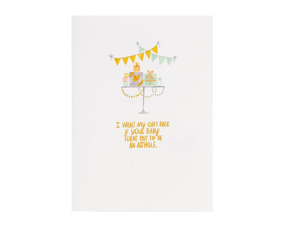 My Gift Back Baby Shower Card