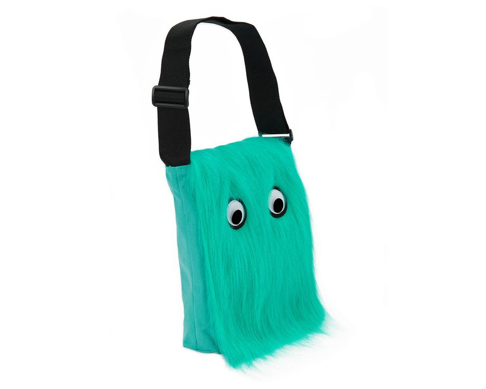 Warm Fuzzy Aqua Messenger Bag