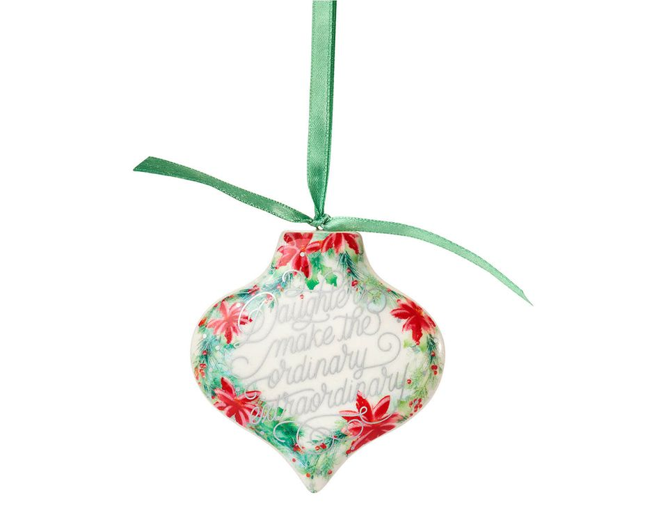 Daughter Floral Christmas Ornament