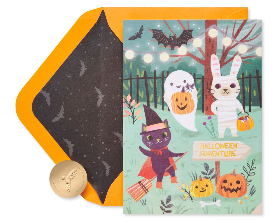 Spooky Party Halloween Greeting Card