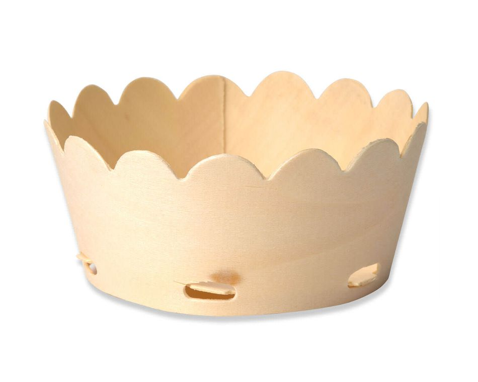 Party Partners Wood Bowl, 6-Count