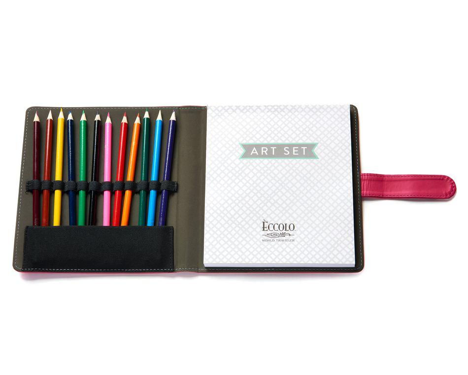 Eccolo Happy Life Art Pencil Set Pink