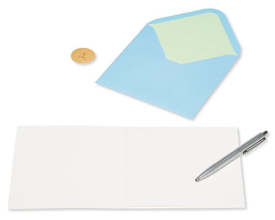 White Rose Friendship Blank Greeting Card