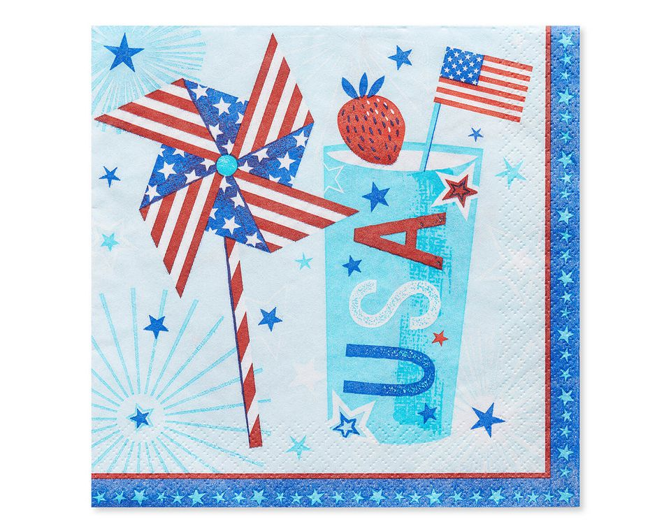 Patriotic Lunch Napkins, 16-Count