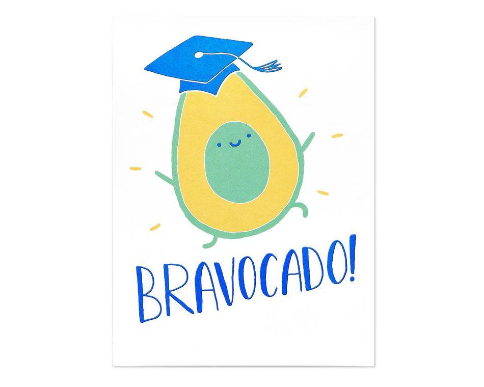 Bravocado Graduation Card