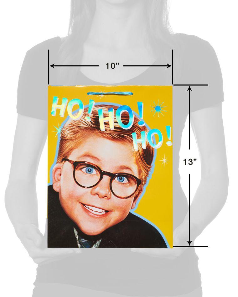 Medium Christmas Story Ho Ho Ho Christmas Gift Bag