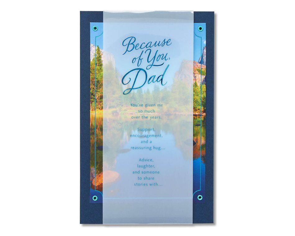 Because of You Father's Day Card
