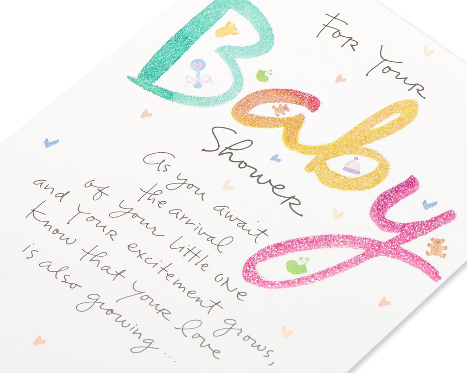 Kathy Davis Hearts and Toys Baby Shower Card