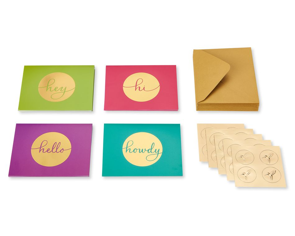 Handlettered Boxed Blank Note Cards, 20-Count