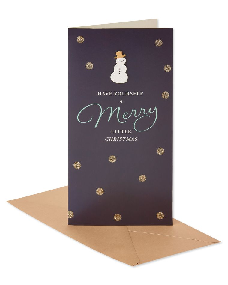 Merry Snowman Christmas Boxed Cards, 8 Count