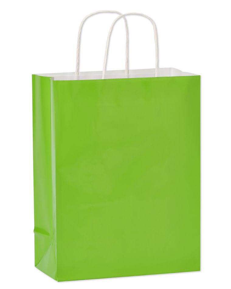 Medium Gift Bag, Lime Green